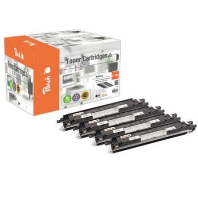 Peach  Spar Pack Tonermodule kompatibel zu Hersteller-ID: No. 130A , CF350A, CF351A, CF352A, CF353A