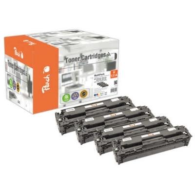 Peach  Spar Pack Tonermodule kompatibel zu Hersteller-ID: No. 131A, CF210A, CF211A, CF212A, CF213A