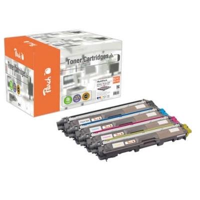 Peach  Spar Pack Tonermodule kompatibel zu Hersteller-ID: TN-241BK, TN-245