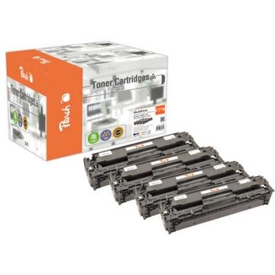 Peach  Spar Pack Tonermodule kompatibel zu Hersteller-ID: No. 718, 2659-2662B002