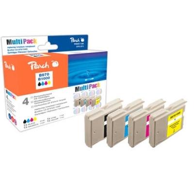 Peach  Spar Pack Tintenpatronen, XL-Füllung, kompatibel zu Hersteller-ID: LC-1000VALBP
