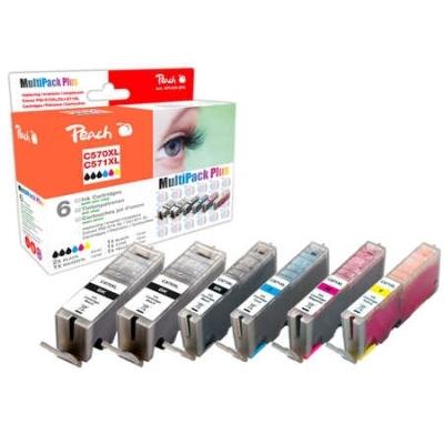 Peach  Spar Pack Plus Tintenpatronen XL kompatibel zu Hersteller-ID: PGI-570XL*2, CLI-571XL