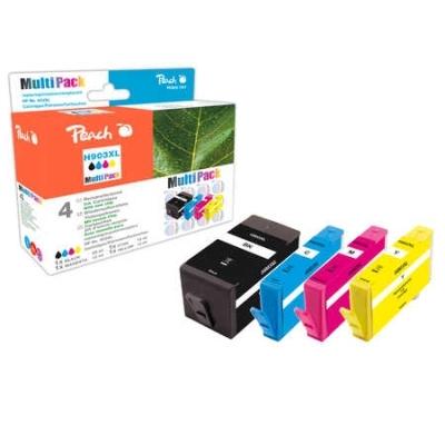 Peach  Spar Pack Tintenpatronen kompatibel zu Hersteller-ID: No. 903XL, T6M15AE, T6M03AE, T6M07AE, T6M11AE
